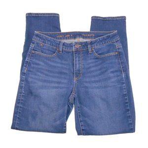Talbots Jeans Curvy Ankle 8 Dark Wash Blue Denim